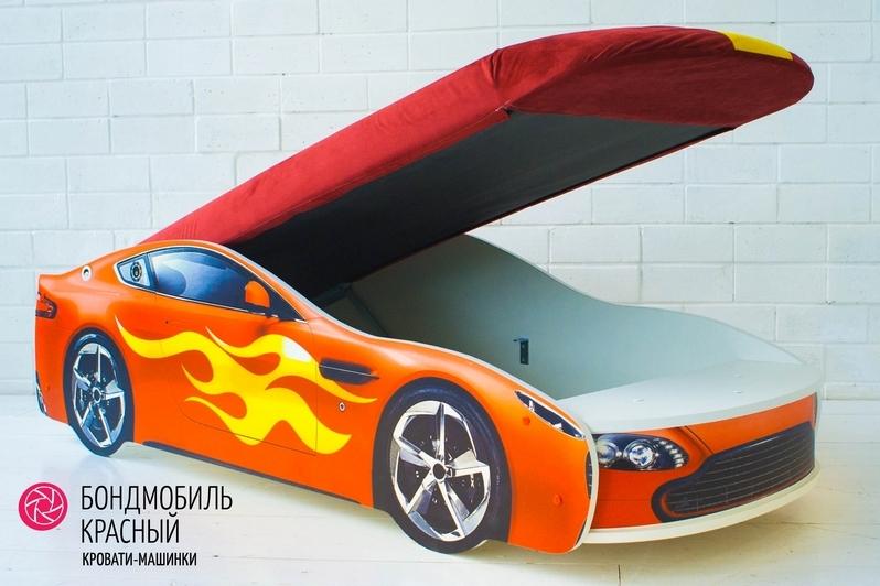 Детская кровать-машина красный -Бондмобиль-4
