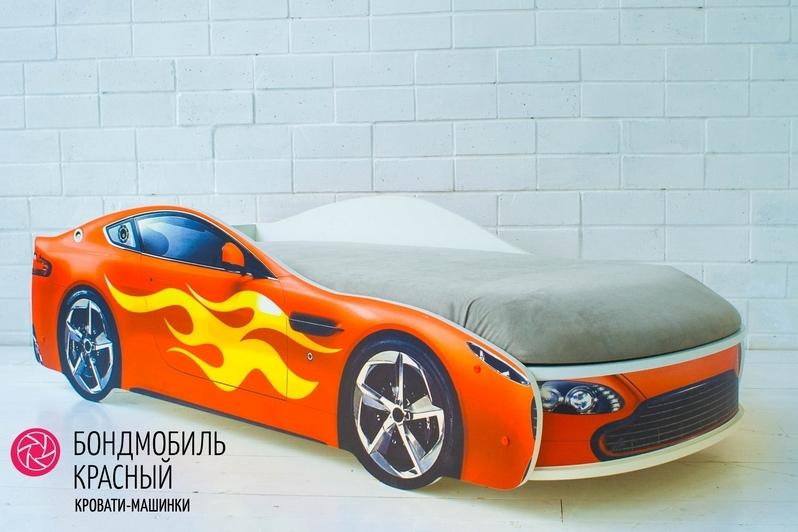 Детская кровать-машина красный -Бондмобиль-5