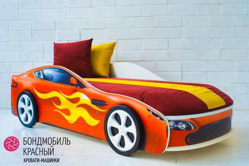 Детская кровать-машина красный -Бондмобиль-8
