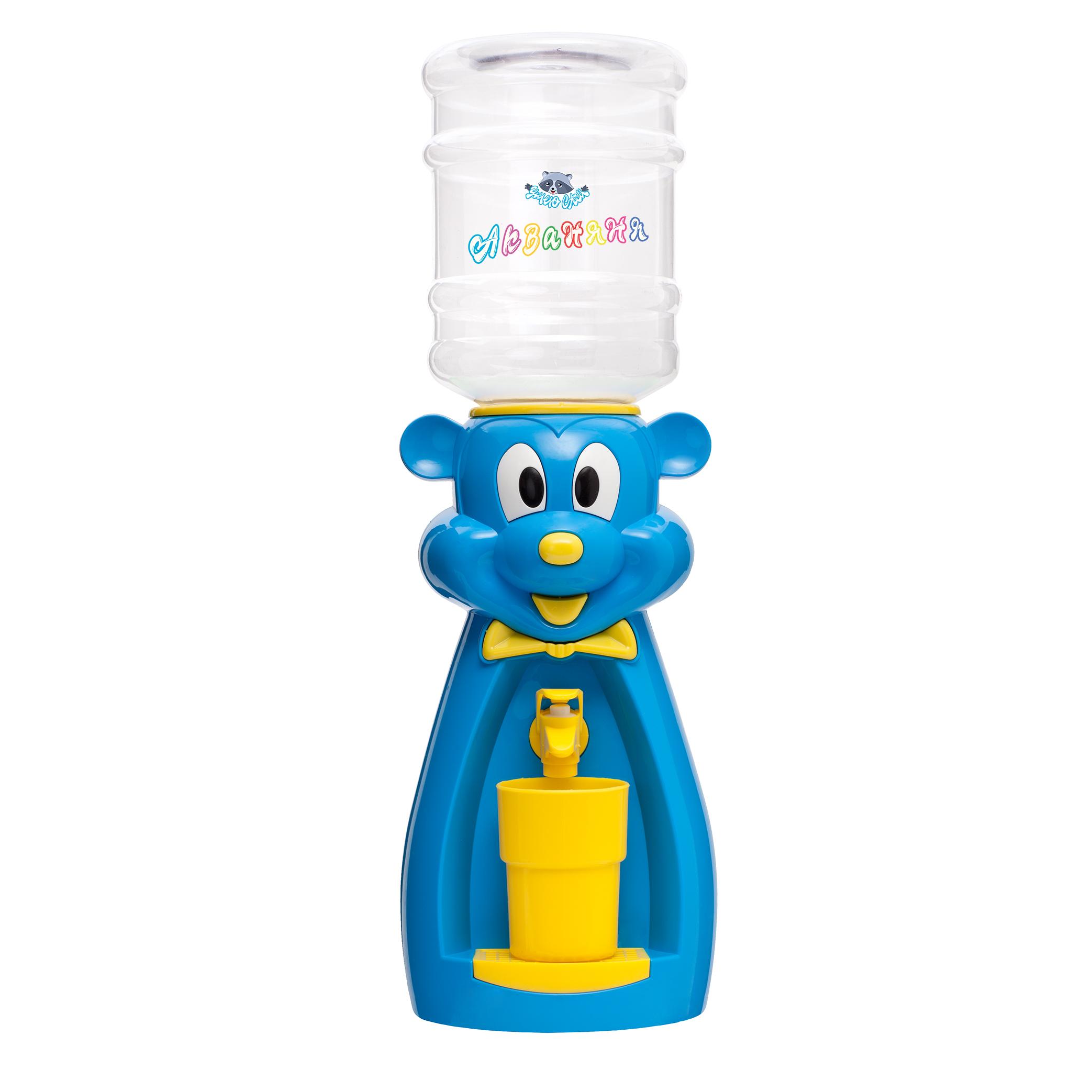 Детский кулер АкваНяня Голубая мышка с желтым