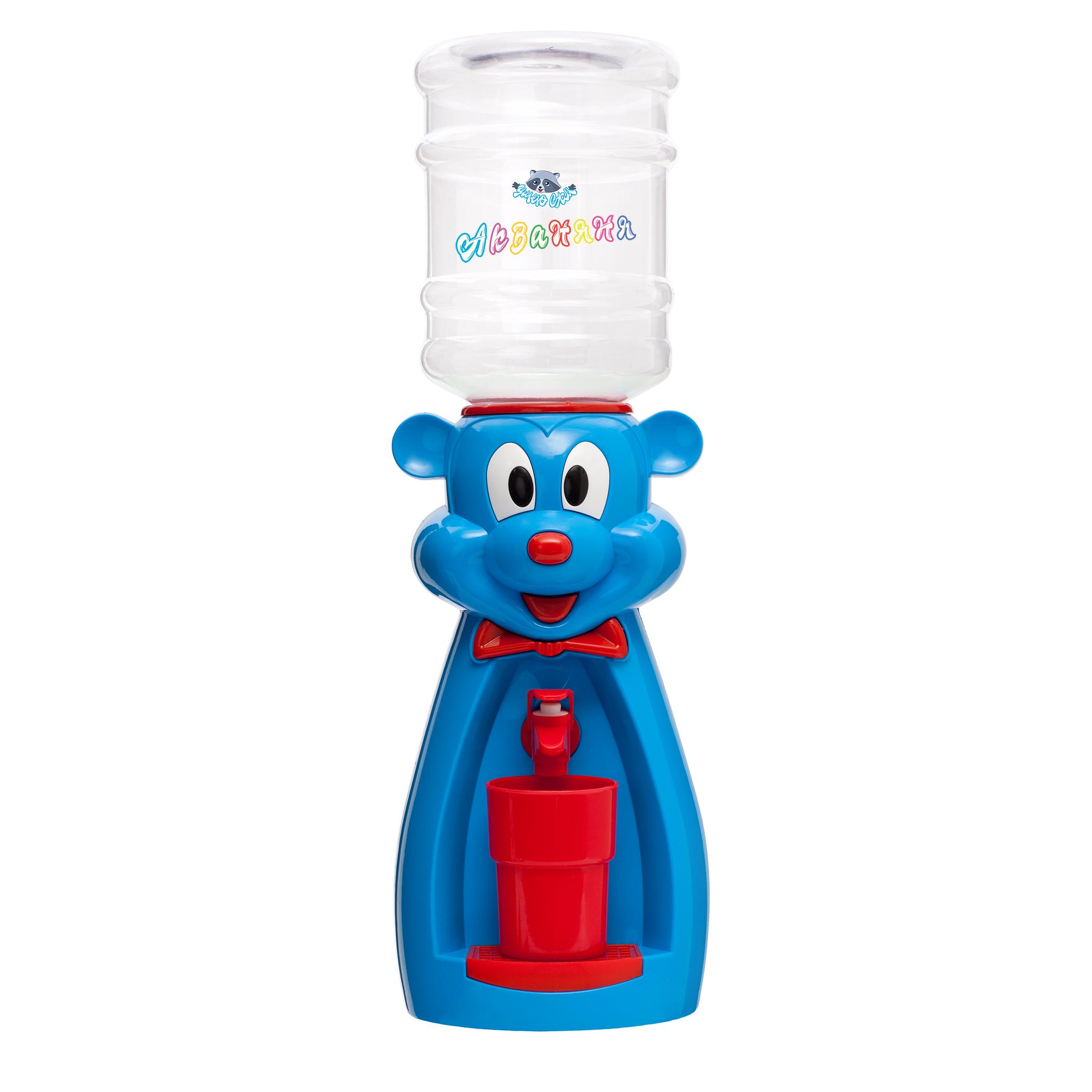 Детский кулер АкваНяня Голубая мышка с красным