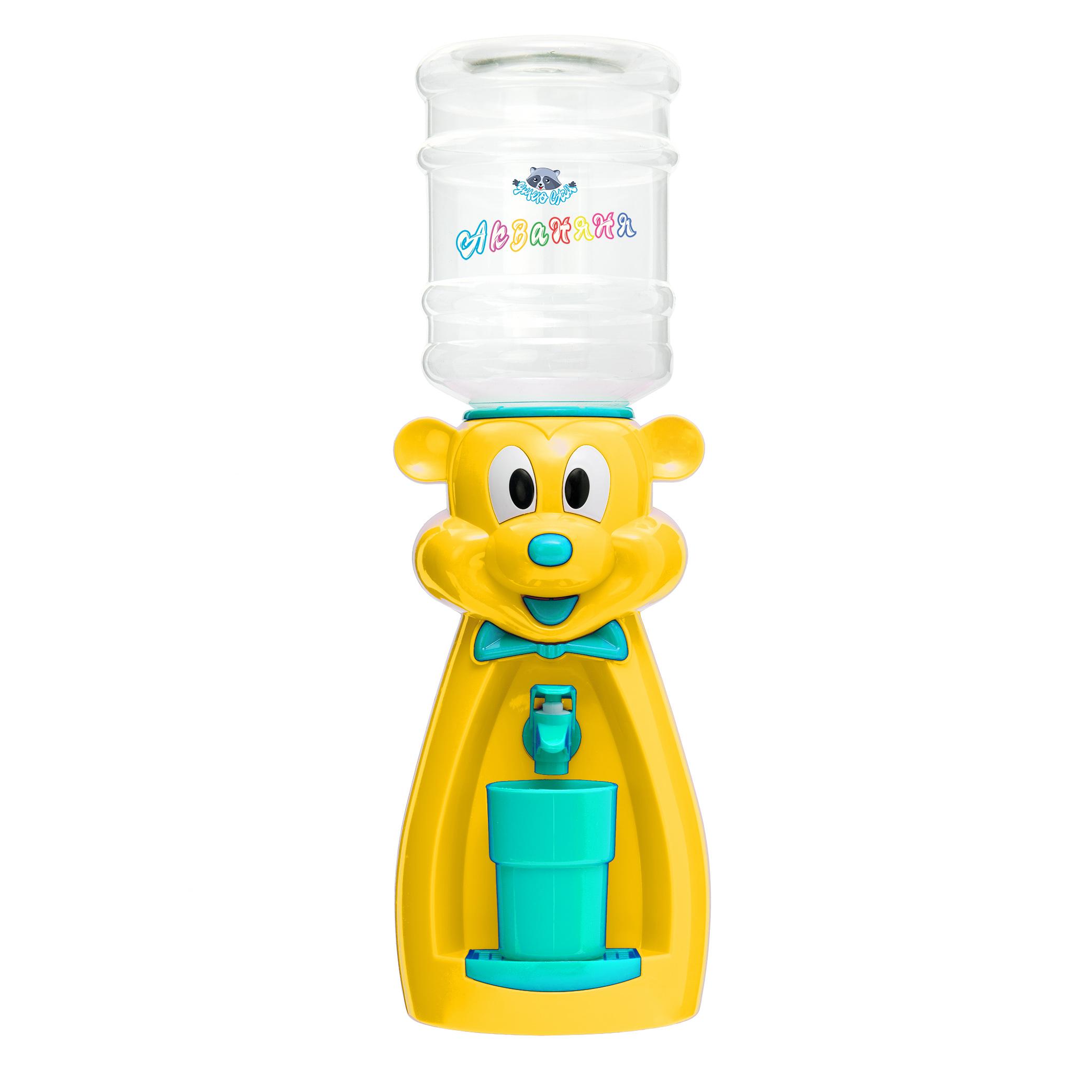 Детский кулер АкваНяня Желтая мышка с бирюзой
