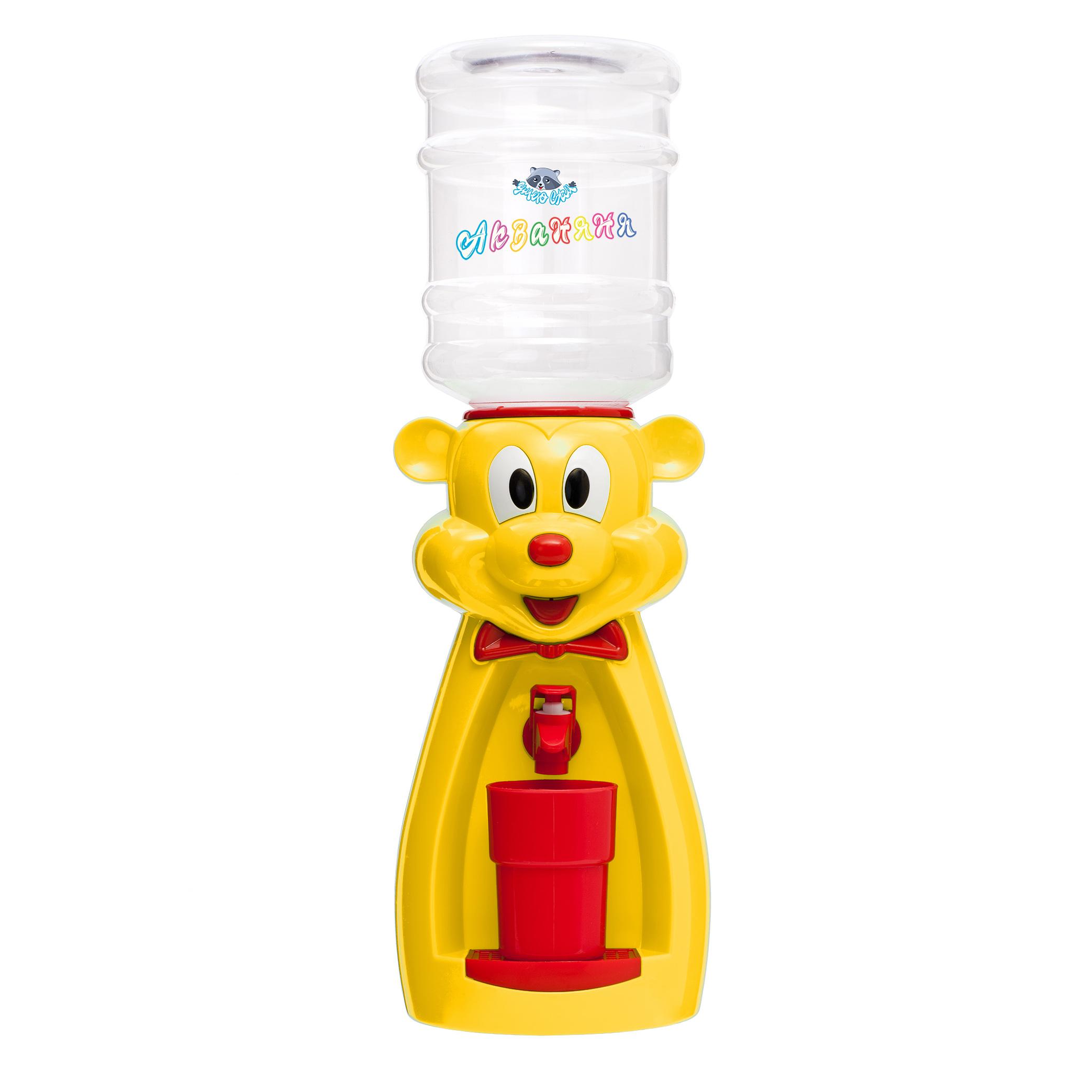 Детский кулер АкваНяня Желтая мышка с красным