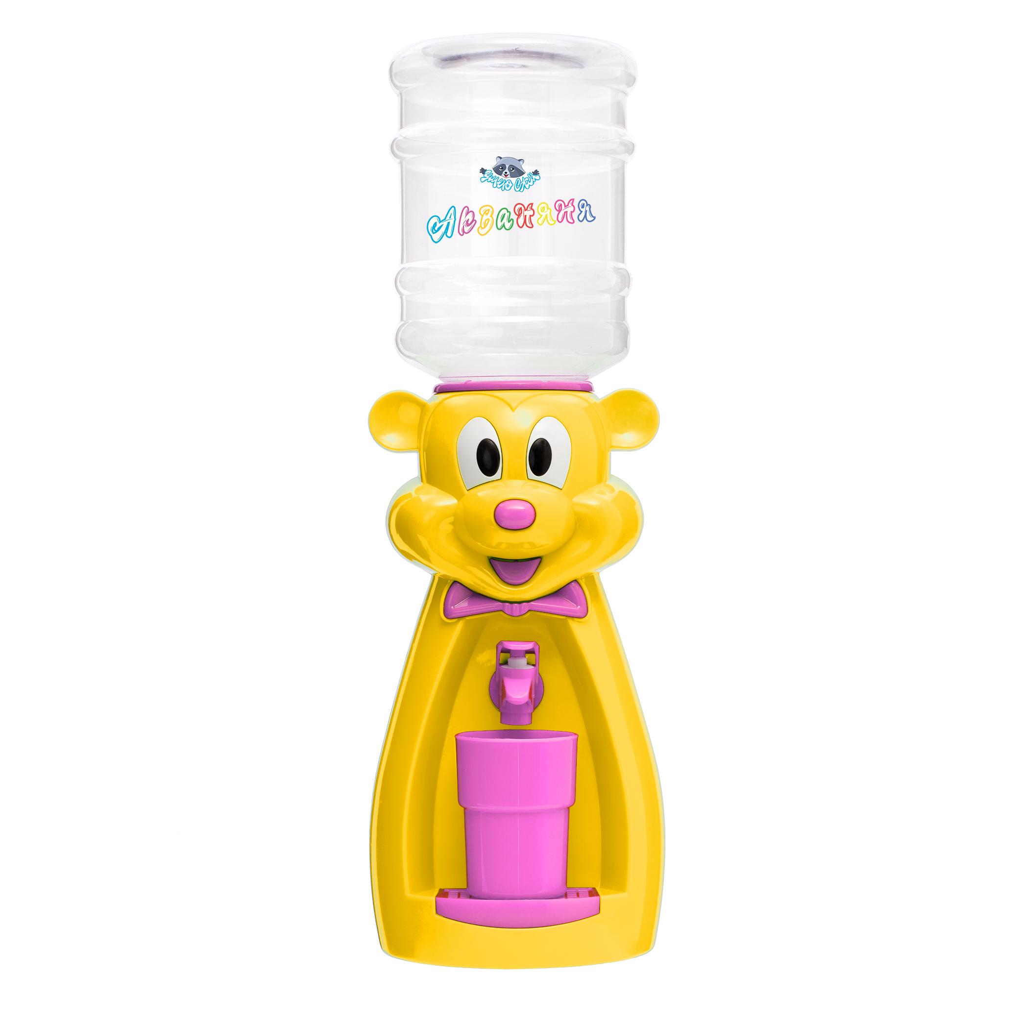 Детский кулер АкваНяня Желтая мышка с розовым