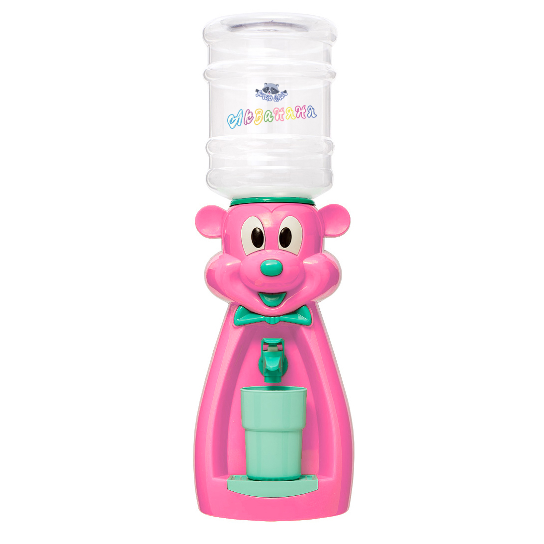 Детский кулер АкваНяня Розовая мышка с бирюзой