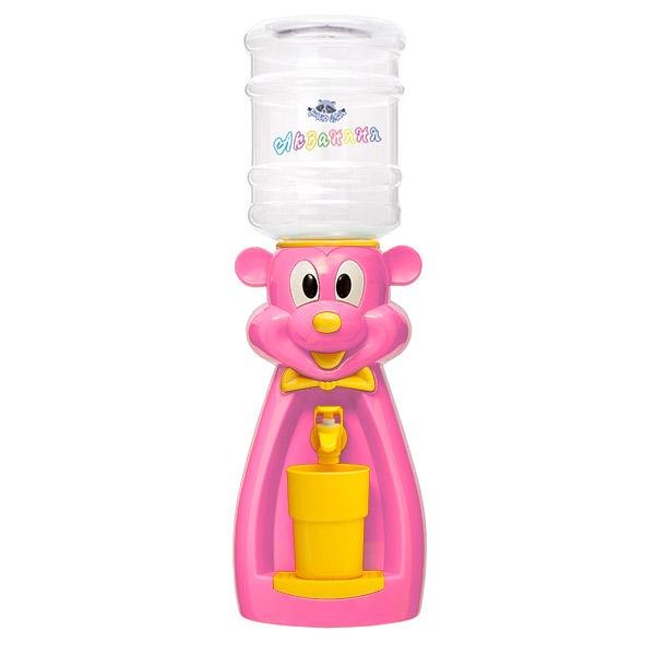 Детский кулер АкваНяня Розовая мышка с желтым