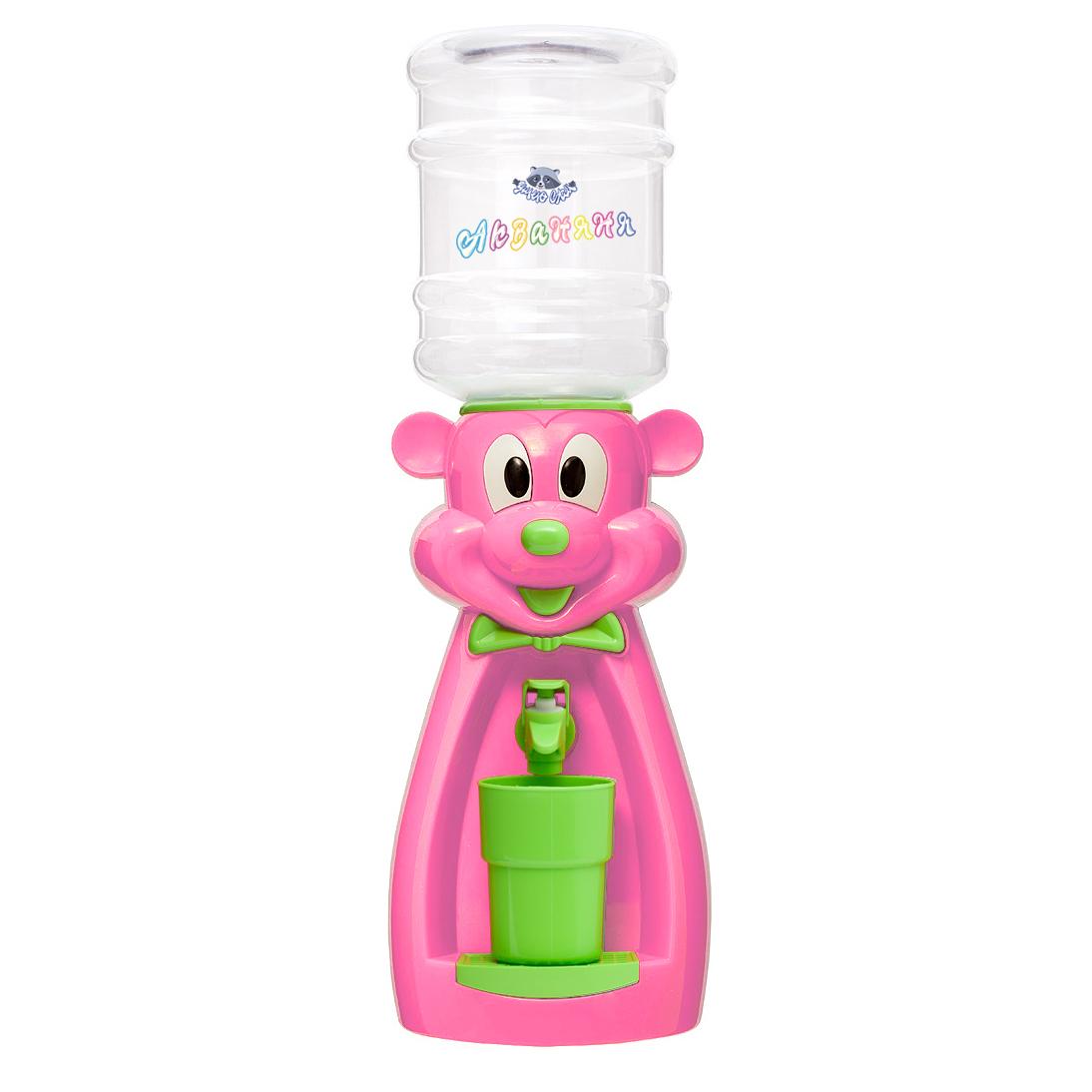 Детский кулер АкваНяня Розовая мышка с салатовым
