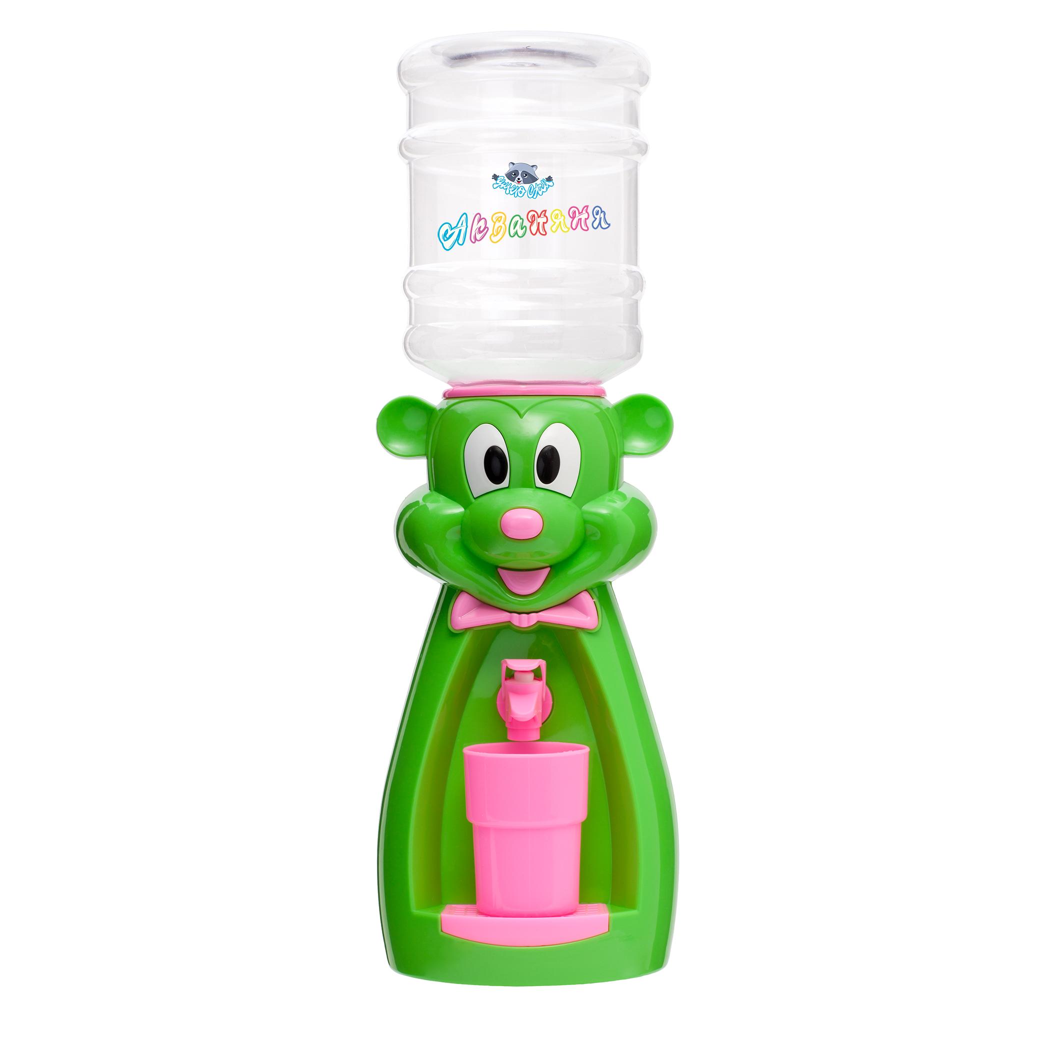 мышка зеленая с розовым