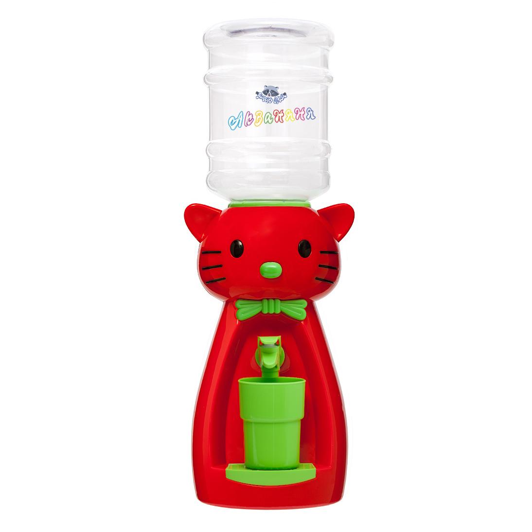 2_2 Детский кулер АкваНяня Красная кошка с салатовым