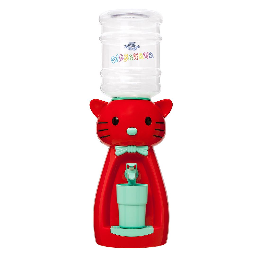 2_3 Детский кулер АкваНяня Красная кошка с бирюзой