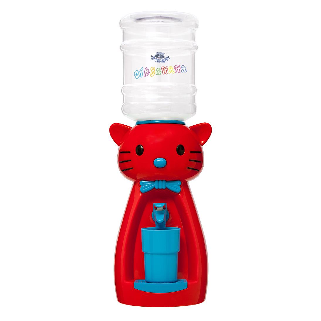 2_4 Детский кулер АкваНяня Красная кошка с голубым