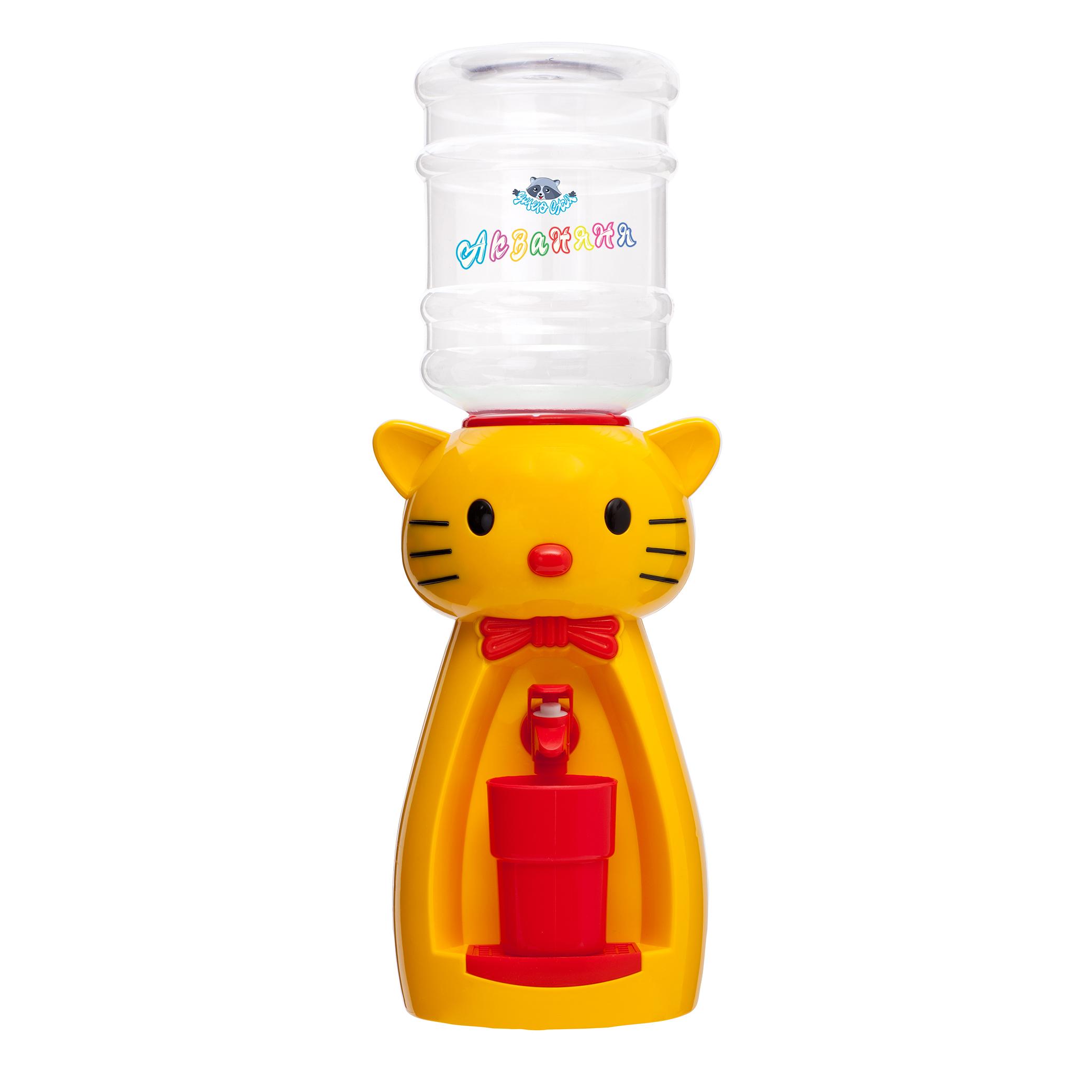4_1 Детский кулер АкваНяня _Желтая кошка с красным_