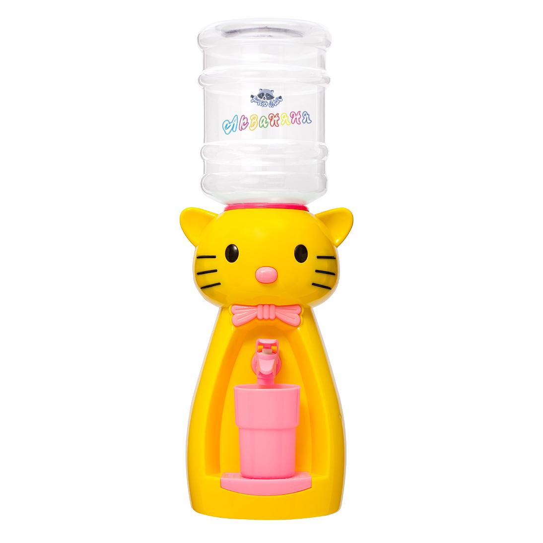4_2 Детский кулер АкваНяня _Желтая кошка с розовым_