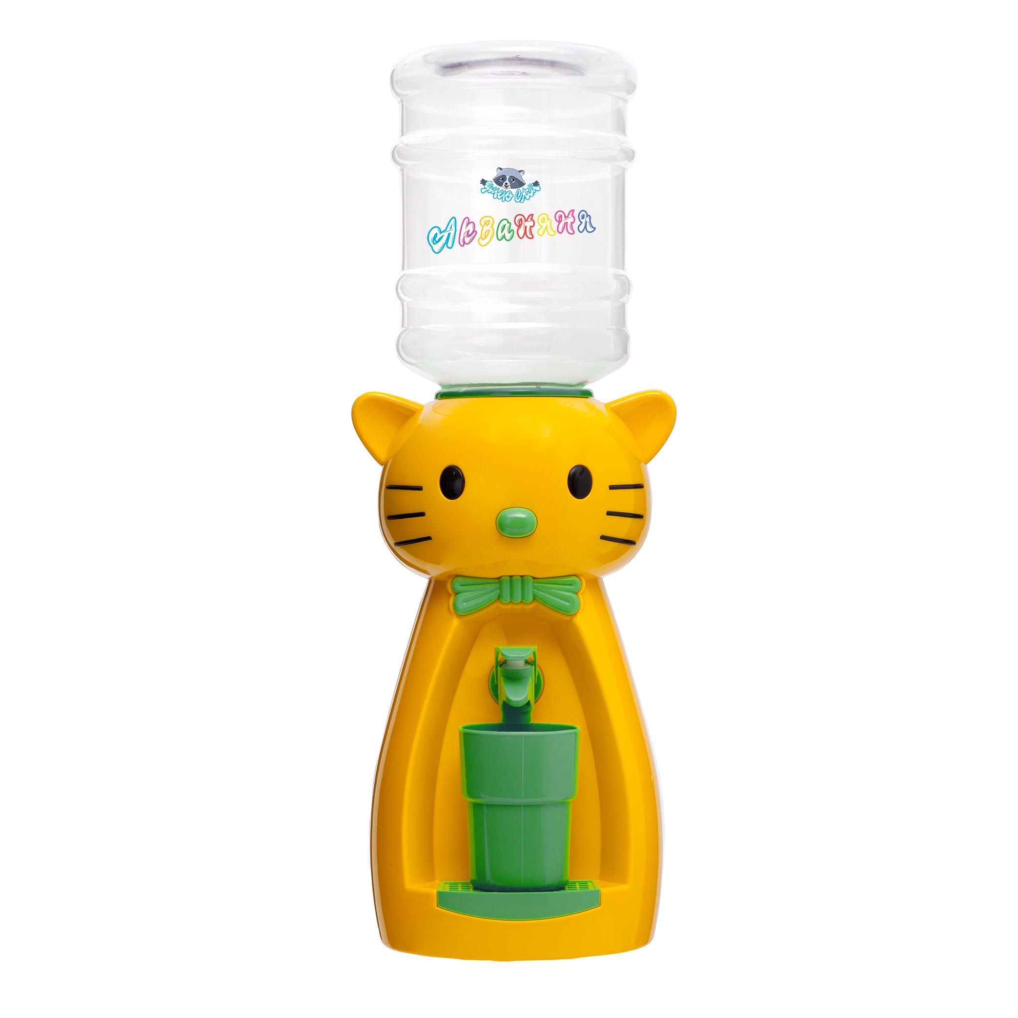 4_3 Детский кулер АкваНяня _Желтая кошка с бирюзой_