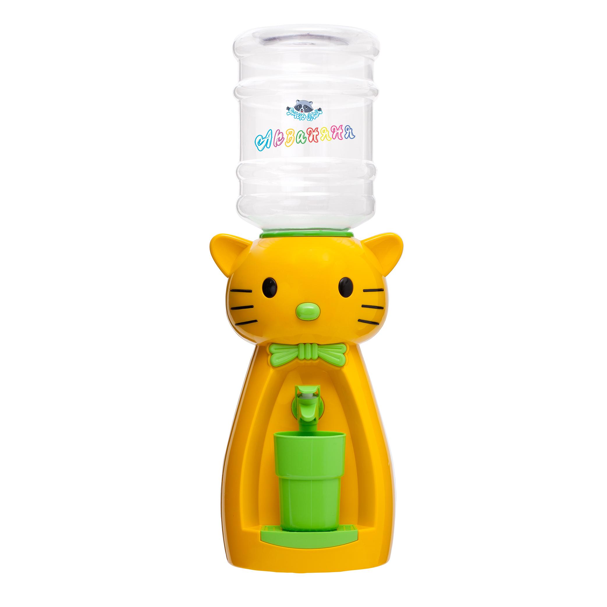 4_4 Детский кулер АкваНяня _Желтая кошка с салатовым_