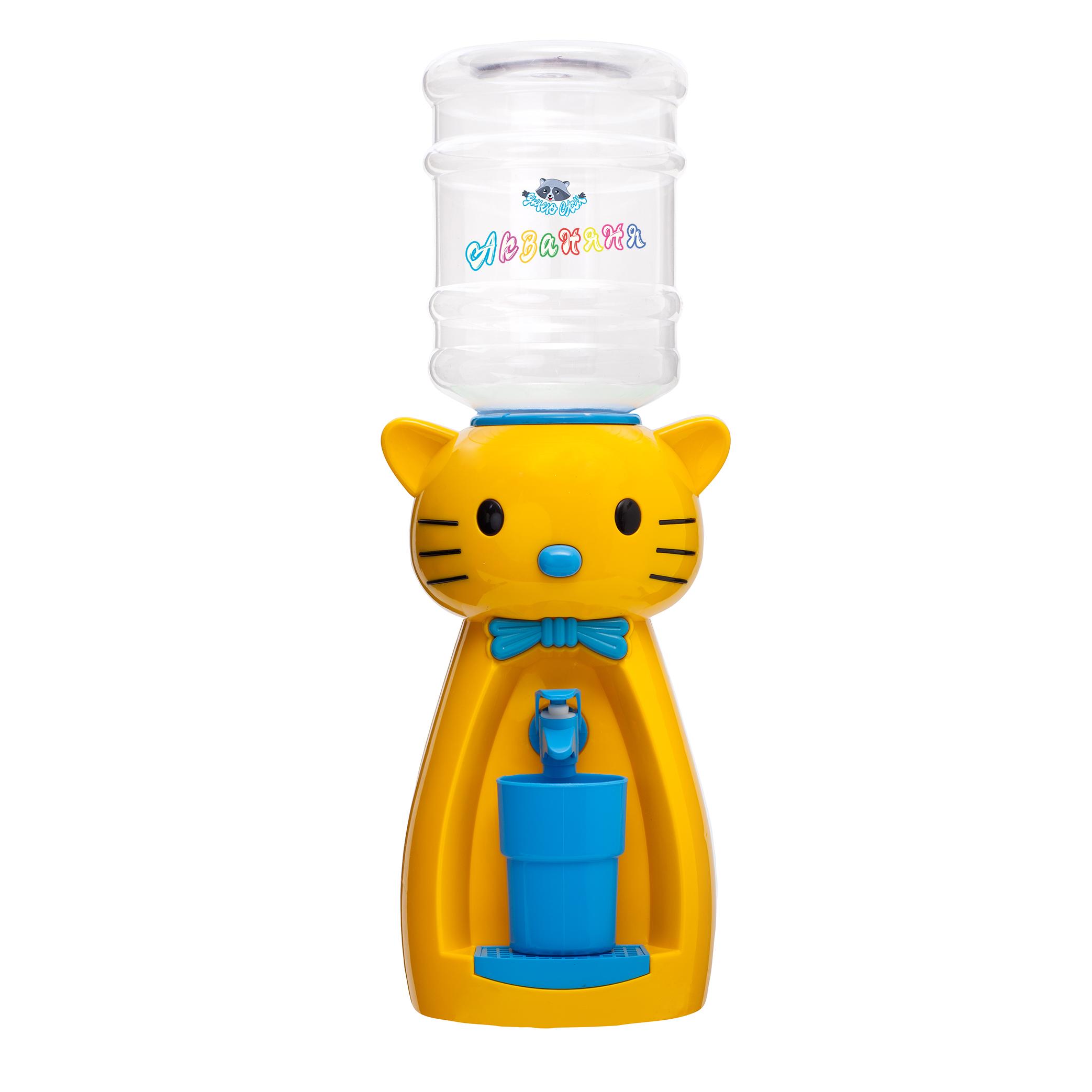 4_5 Детский кулер АкваНяня _Желтая кошка с голубым_