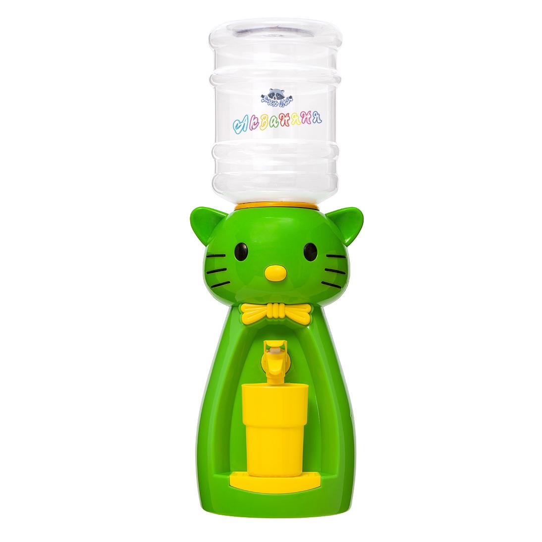 5_3 Детский кулер АкваНяня _Салатовая кошка с желтым_