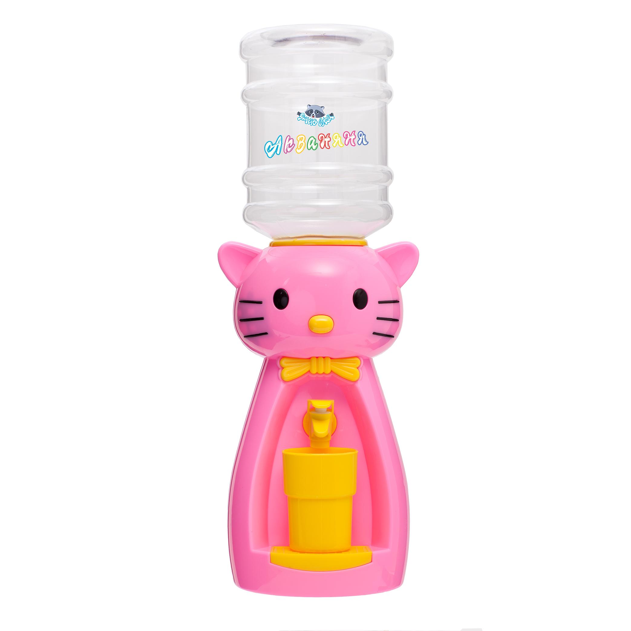 6_1 Детский кулер АкваНяня _Розовая кошка с желтым_
