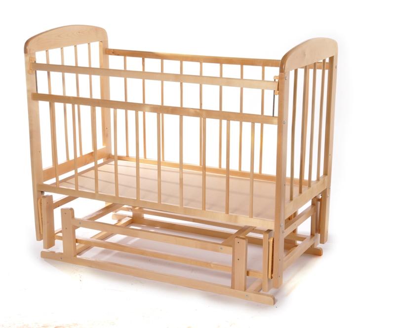 Кровать Мишутка-11 поперечно-продольный маятник - светлая