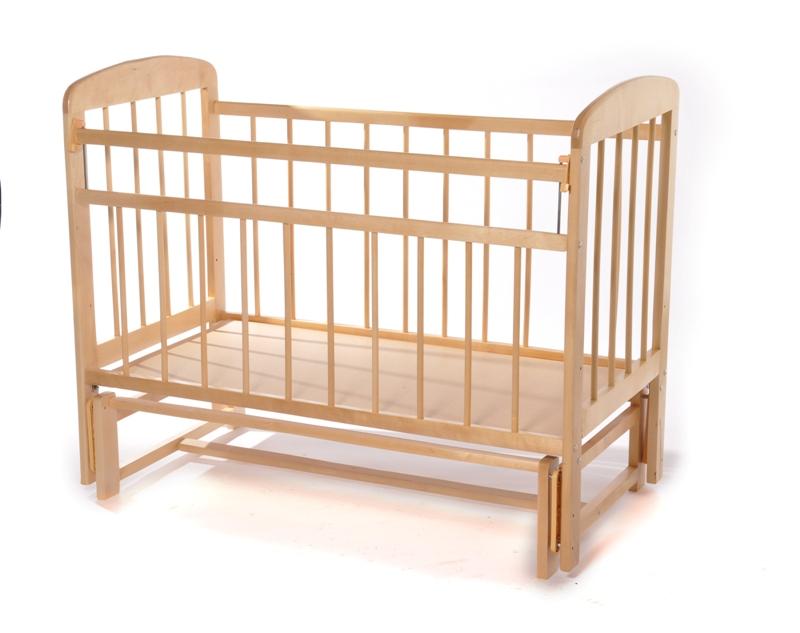 Кровать Мишутка-11 поперечный маятник - светлая